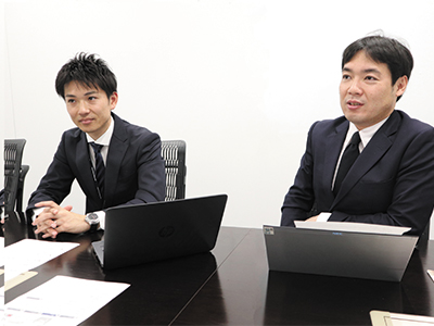 BPR推進課の的場健太氏と課長 長井智哉氏